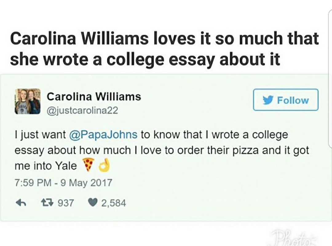 admissions essay about pizza lands university acceptance letter admissions essay about pizza lands her acceptance letter from yale university